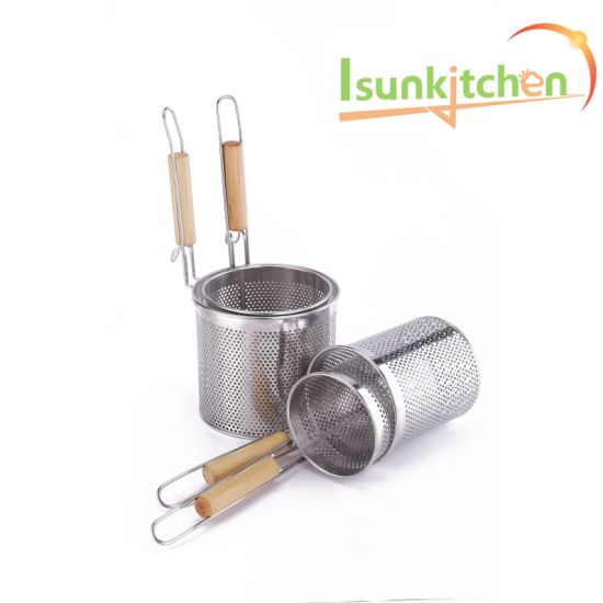 Rice Flour Noodle Mesh Leakage Filter Colander Heat Through Scoop Ladle Cooking Spoon Stainless Steel Big Slotted Strainer