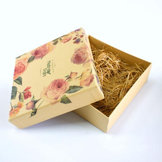 Custom Matte Laminated Flower Printing Fancy Paper Gift Packaging Box