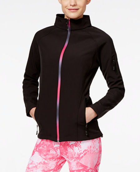Women fashion Slim Stand Collar Softshell Jacket