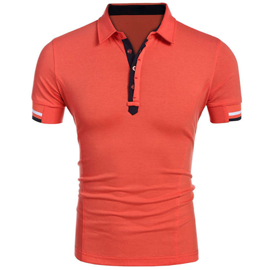 0d533ec2 China Customized Mens Leisure Button up Slim Fit Trendy Polo T-Shirt ...