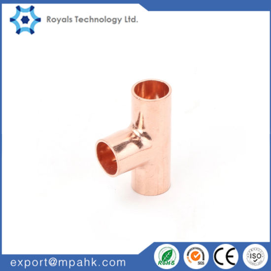 Copper Tee Copper Cross Tee Refrigeration Copper Fittings pictures & photos