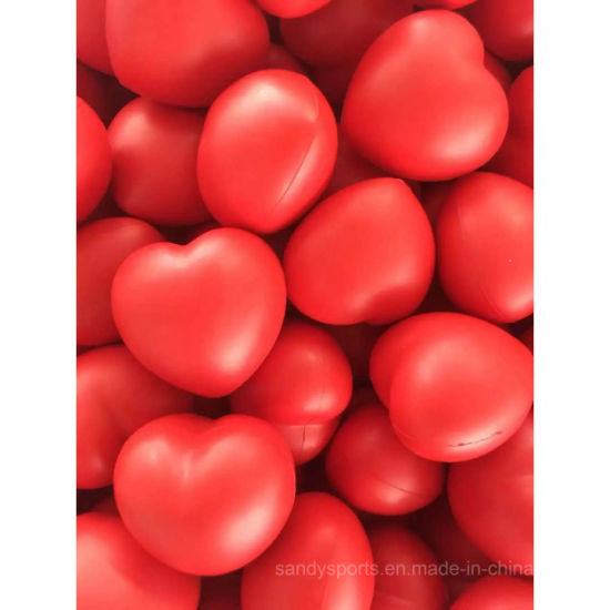 Wholesale PU Foam Squeeze Toy Valentine Heart Promotional Stress Ball Toy