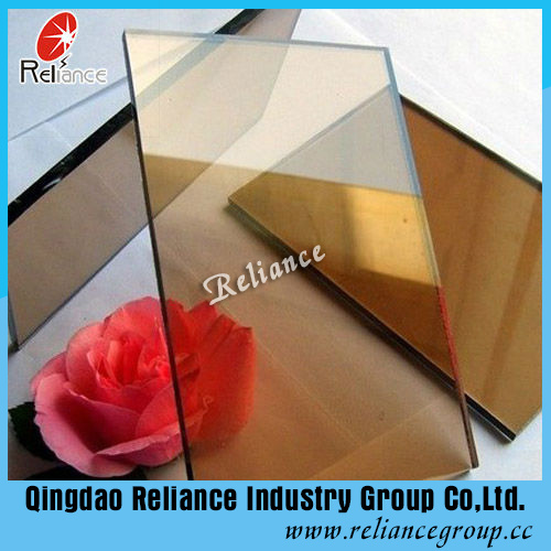 6mm Golden Bronze Reflective Glass/Dark Bronze Reflective Glass for Building pictures & photos