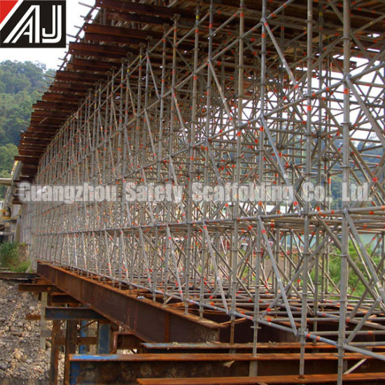 Guangzhou Manufacture Galvanized Steel Ringlock Scaffolding System for Building Construction Project pictures & photos