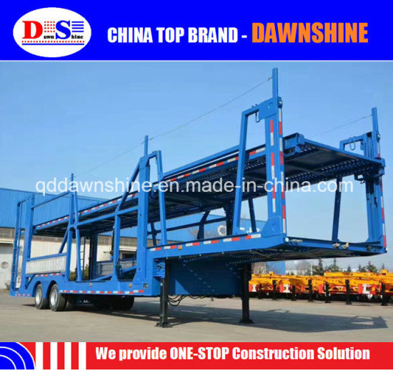 Chinese Low Price 3 Axle Truck Semitrailer Car Carrier Transport Semi Truck Trailer pictures & photos