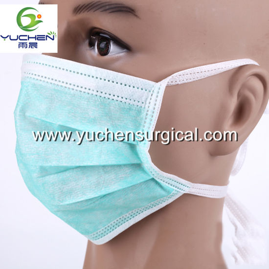 Manufacturer Nonwoven Disposable Face Mask with Earloop or Tie on