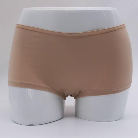 Micropolyester Plain Four-Leg Trousers Seamless Women Underwear