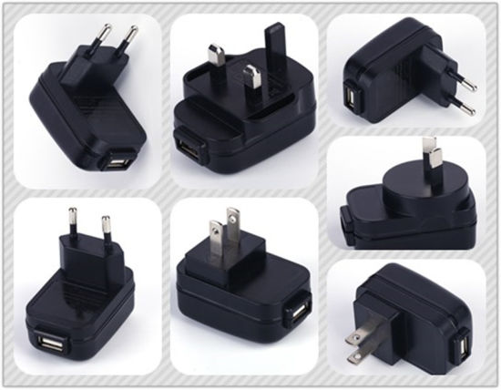 Universal 5V~12V USB Power Adapter with UK Us EU Cn Plug pictures & photos