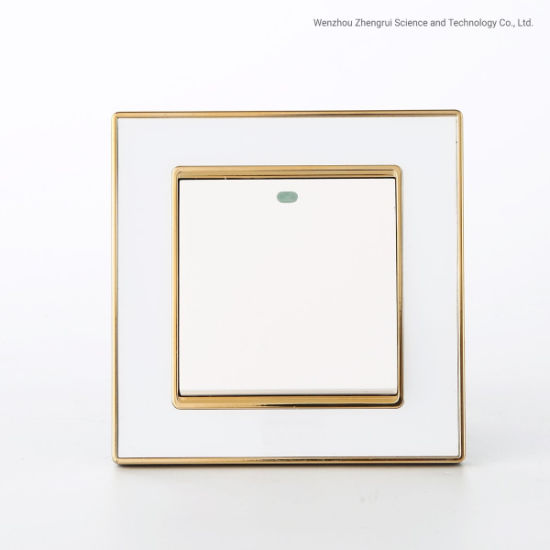 Wholesale Simple Design One Open Golden Acrylic Wall Switch