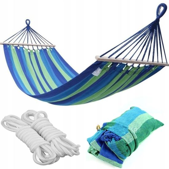 Garden Sleeping Bed Outdoor Camping Hammock with Wooden Bar pictures & photos