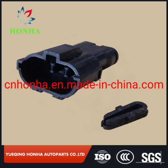 Auto Black 3 Pin Male Electrical Waterproof Housing Connector