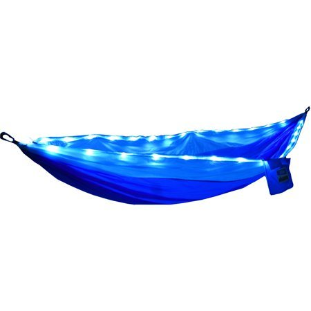 LED Light Nylon Parachute Hammock, Multifunctional Light Best for Outdoor Camping
