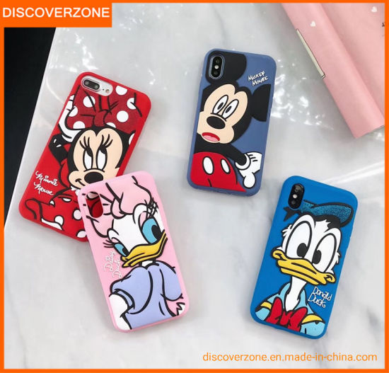 Cartoon Mickey Silicone Phone Case Cute Drop-Proof Mobile Phone Cases pictures & photos