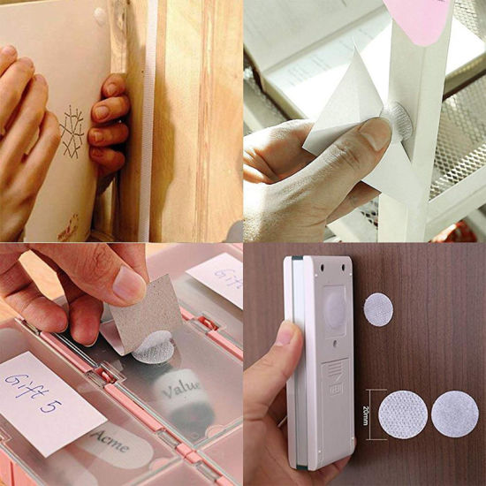 Strong Sticky Adhesive Hook and Loop Dots with Back Glue