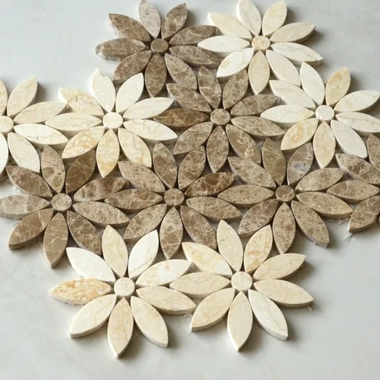 Sunflower Irregular White Natural Marble Mosaic pictures & photos