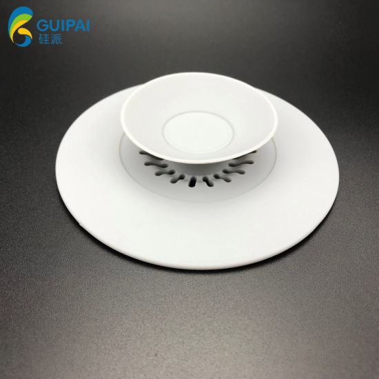 OEM Silicone Collapsible Folding Drain Cover Silicone Kitchen Sink Filter for Bathroom Floor