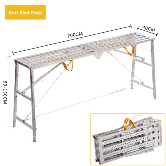 Factory Direct Sale Decoration Folding Horse Stool Portable Lifting Engineering Ladder