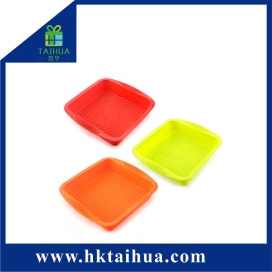 Promotion Square High Temperature Resistant Silicone Cake Mold