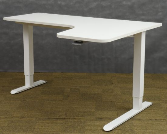 Manual Height Adjustable L Shape Standing Student Office Table