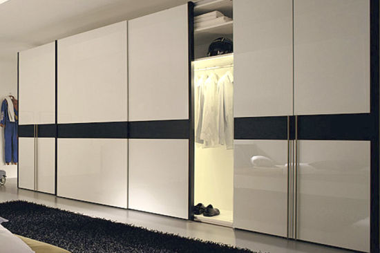 Modern Bedroom Furniture Wooden Wall Wardrobe with Sliding ...