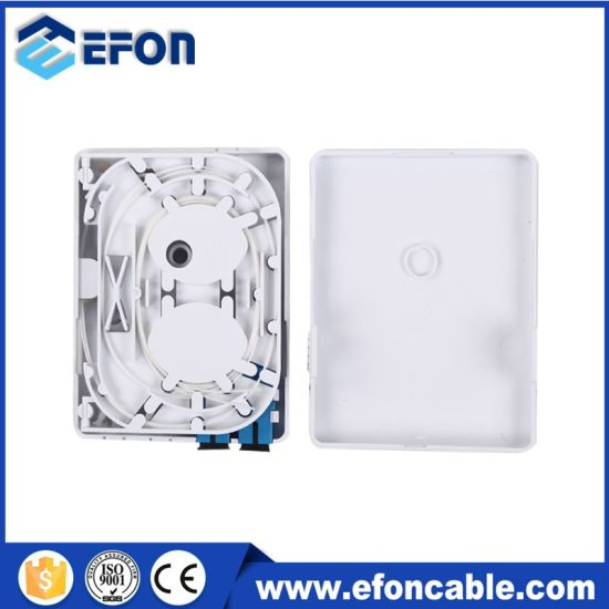 FTTH Mini 2 Core Optical Wall Mount Outlet, Indoor FTTX Box