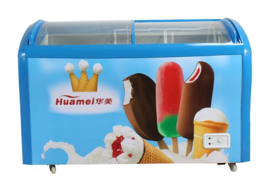Sliding Glass Door Big Capacity Chest Freezer for Ice Cream