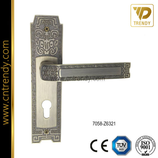Classic Style Luxury Door Lock Handle on Backplate (7055-Z6358) pictures & photos