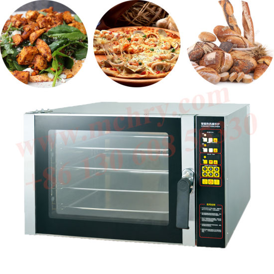 Small Size Home Bakery Machine 4 Trays Hot Air Convection Oven