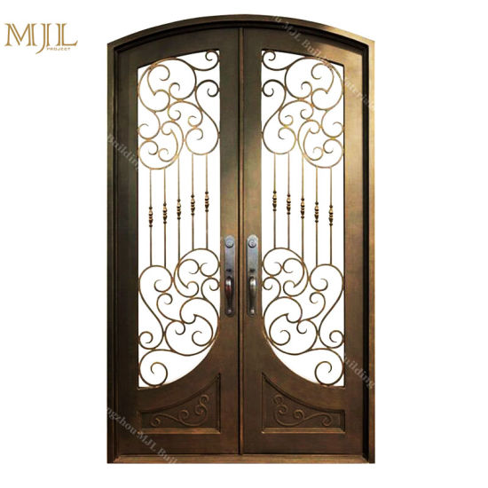 China Wholesale High Quality Cheap Price Wrought Iron Front Doors