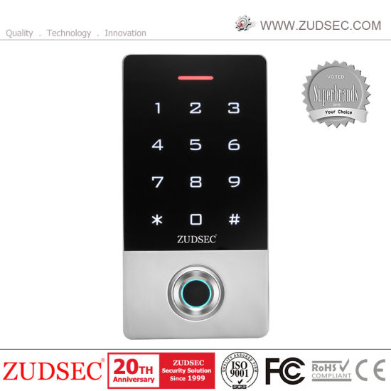Metal Standalone Touch Keypad Recognition Biometric RFID Fingerprint Door Access Control with Waterproof