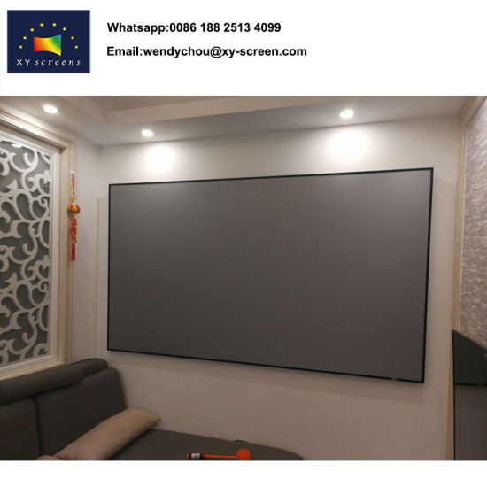 China 16 9 Retractable Projector Screens For Home Theater On Wall