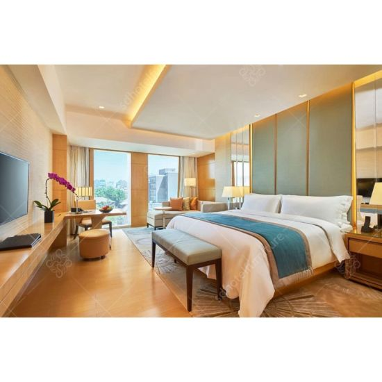 Commercial Used Modern Hotel Bedroom Furniture with single or Double Bed Headboard