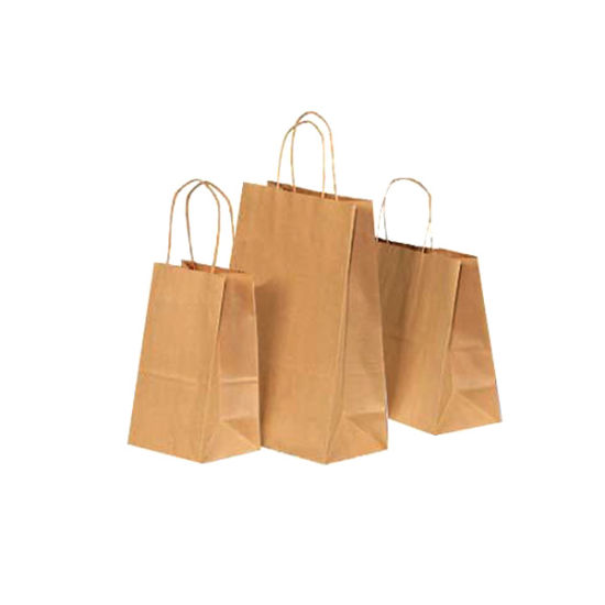 China Free Sample Brown Paper Bag With Custom Logo Whole