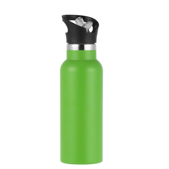 High Quality Black Sports Water Bottle 750ml Double Wall Stainless Steel Vacuum Insulated Water Bottle
