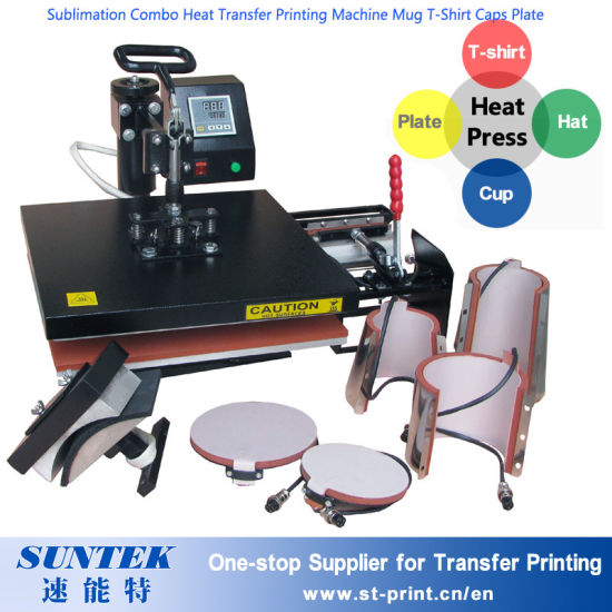 eac538ab Sublimation Combo Heat Transfer Printing Machine Mug T-Shirt Caps Plate  pictures & photos