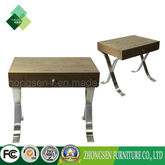Whole Stainless Steel Frame Wood Top Dining Table For