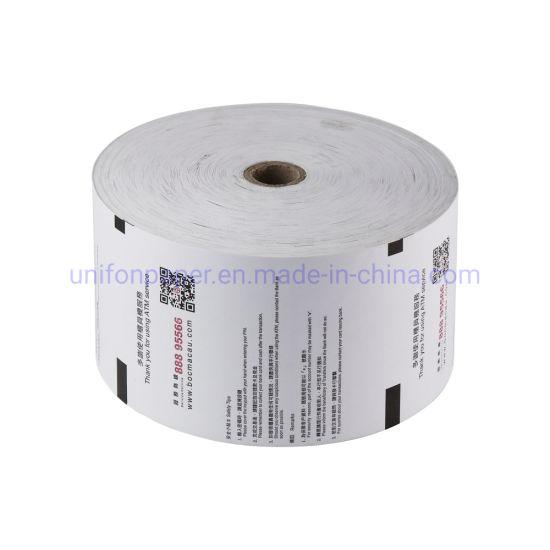 100% Pure Wood 80*80mm Cash Register Paper BPA Free ATM Roll