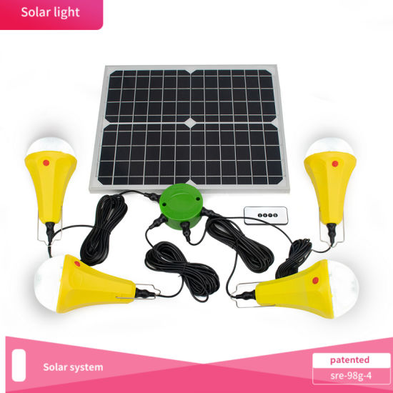 Solar Light/Solar System Portable Energy Saving Light 25W Solar Power System Sre-98g-4