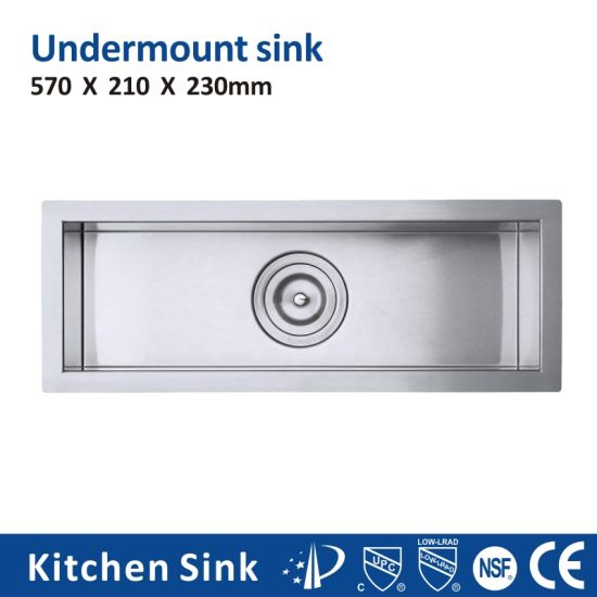 Canada R10 2 3mm 32 Inch Rectangular Under Mount Single Double Bowl Heat Sink, Wash Kitchen Sink for Housing Project Manual Matt Kitchen Sink