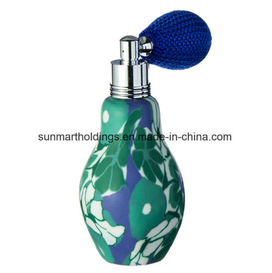 30ml Clay Perfume Glass Bottle with Bulb Spray Pump for Prfume Packaging