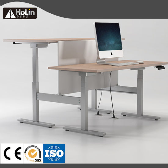 Electric Height Adjustable Table Sit Stand Office Workstation Executive Computer Desk pictures & photos