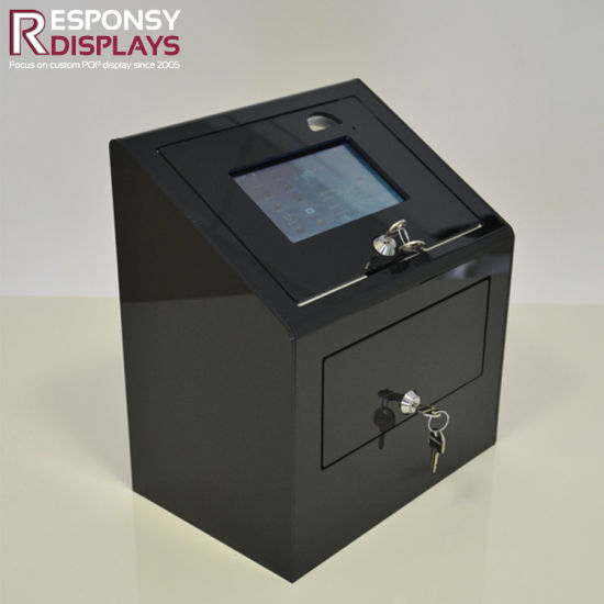 Counter Top Acrylic Box with Lock Display Stand with LCD pictures & photos
