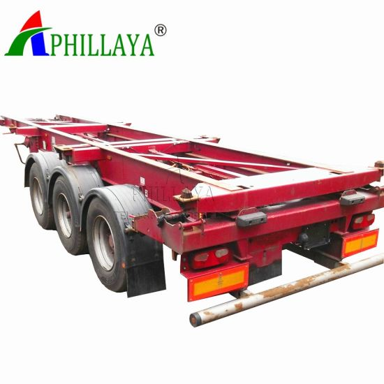 3 Axle 40ton 40′ FT Skeletal Container Semi Trailer (05) pictures & photos