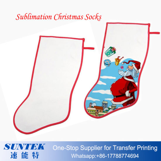 graphic about Printable Stockings called Dye Sublimation Personalized Printable Blank Xmas Stocking