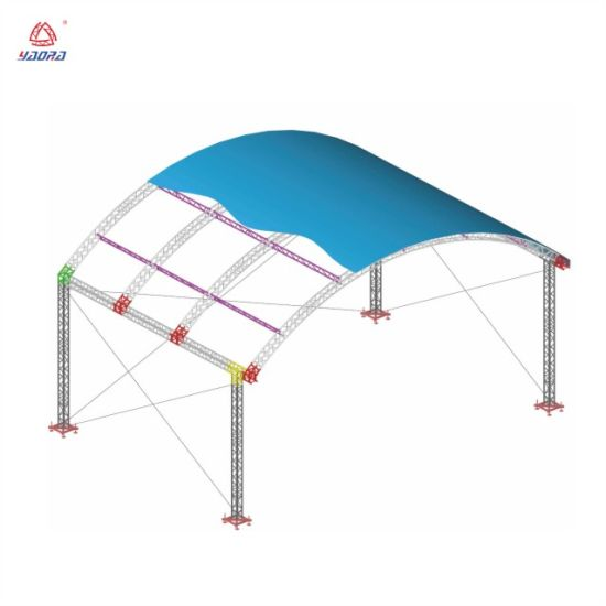 Arched Roof Design Aluminum Truss Portable Stage Concert