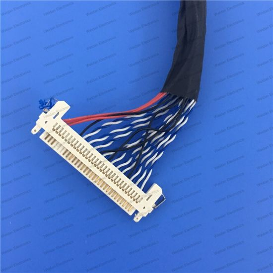 Lvds Cable Fix-30p Double 2CH 8bit for 17inch~23inch LCD Panel Length 50cm pictures & photos