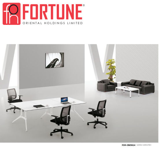 China White MFC Executive Office Conference Table In Guangzhou FOH - Executive office conference table