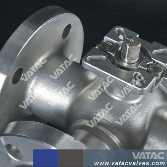 Vatac Flanged Carbon/Stainless Steel Three Way Ball Valve pictures & photos