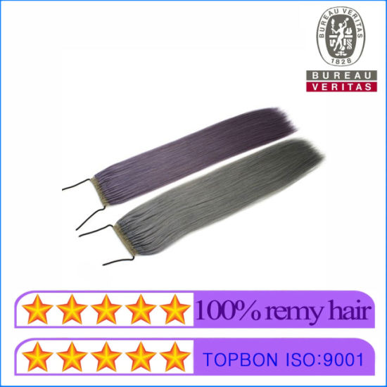 The Most Popular Hair Extensions in Japan/ Korea Best Quality Knot Thread Hair Extensions pictures & photos