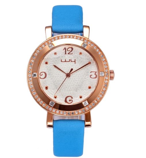 Wholesale Fashion Jewelry Leather Strap Japan Movement Wrist Watches (WY-047) pictures & photos